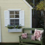 HGTV Enchanted Cottage Front View With Window Box And Bench